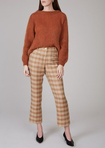 REJINA PYO Finley pants - camel/orange/green