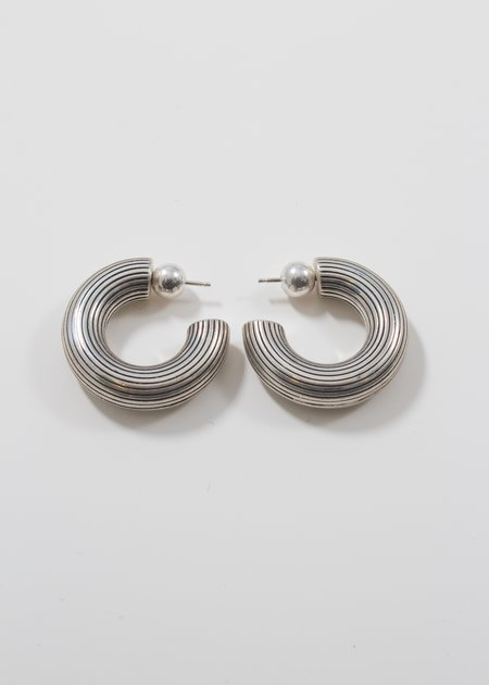 SOPHIE BUHAI Small Column Hoops - sterling silver