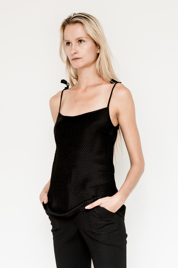 Area Satin Blend Embossed Cami