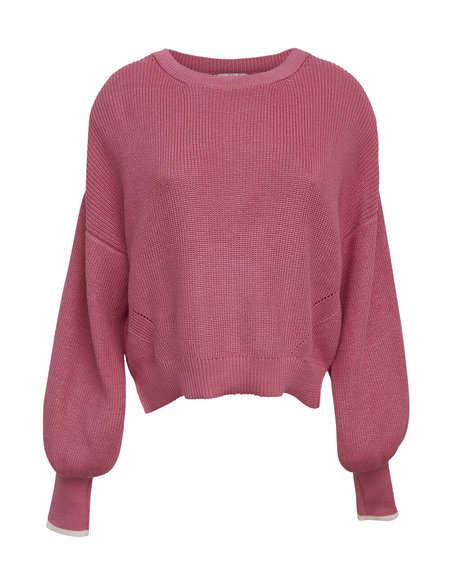 ELEVEN SIX LAYLA SWEATER - SUGAR PINK