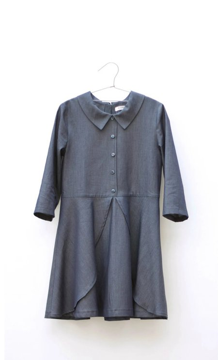 Kids Motoreta Luna Dress - Blue