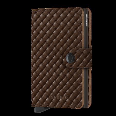 SECRID Mini Wallet - Basket Brown