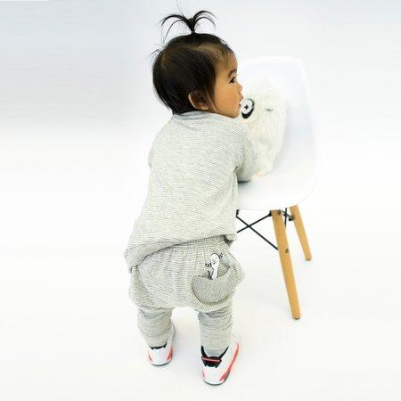 Kids Unisex Bash+Sass Hammer Pants - Grey Skinny Stripes