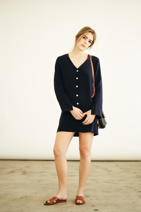 BETWEEN TEN Eden Shirtdress - Blue