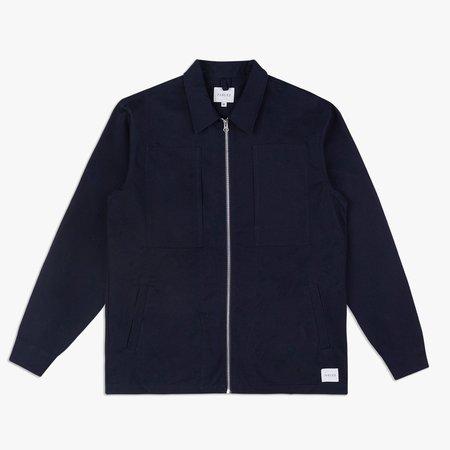 Parlez Sandeman Pocket Overshirt - Navy