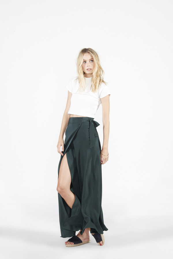 Siena Wrap Skirt - Green