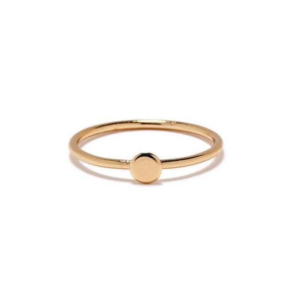 BING BANG NYC Tiny Circle Ring - Gold