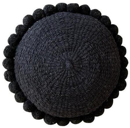 Pampa Monte Pom Pom Cushion #4 - black