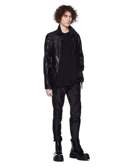 Leon Emanuel Blanck Coated Silk Jacket - black
