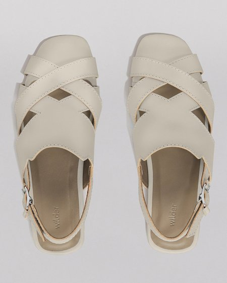 WILDER SHOES HAZEL SANDAL - BONE VACHETTA