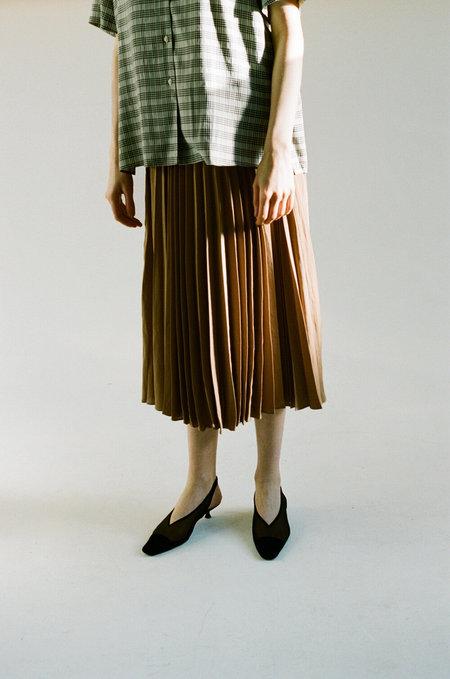 SHAINA MOTE Air Crepe Aster Skirt - Camel