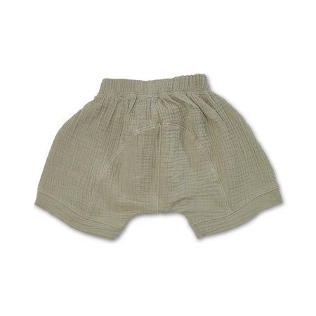 Kids Bacabuche Gauze Oversized Shorts - Sage