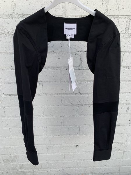 TAKAHIROMIYASHITA The Soloist. Poplin Attachment Shirt Sleeve Bolero - Black