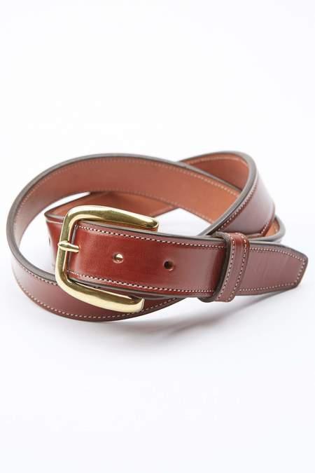 Tory Leather Stitched Belt - Oakbark