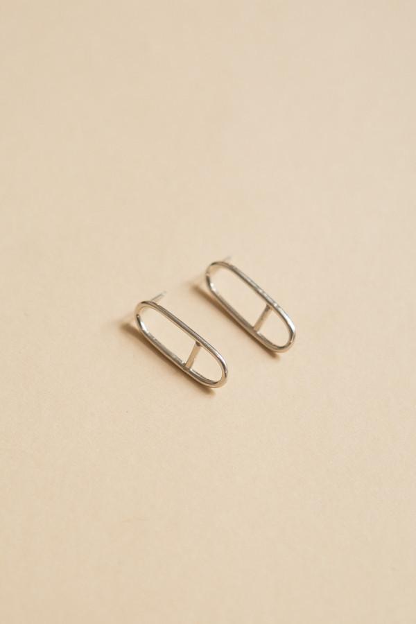 Seaworthy Horizon Earrings / Silver
