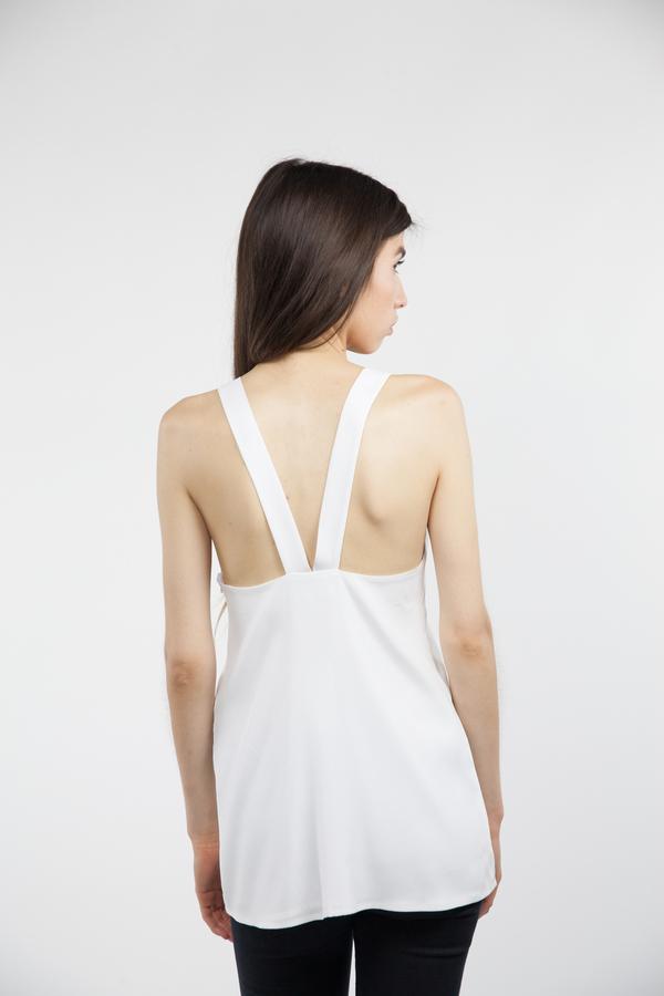 Emerson Fry V Back Top - White