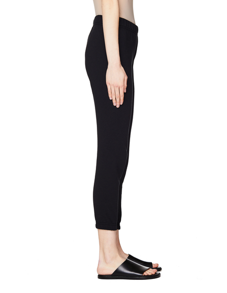 Maisie Wilen Cropped Cotton Sweatpants - Black