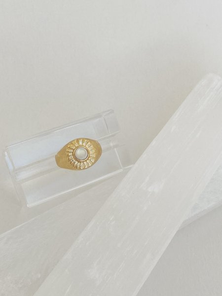 Mercurial NYC Mother of Pearl Beam Ring