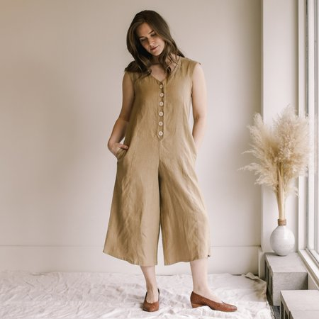 harly jae Beatriz Jumpsuit - Taupe