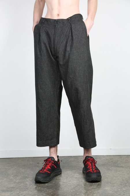 Kuon CHECK LINEN WIDE PANT