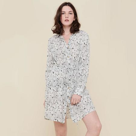 Acote Shirt Dress - Ecru Noir