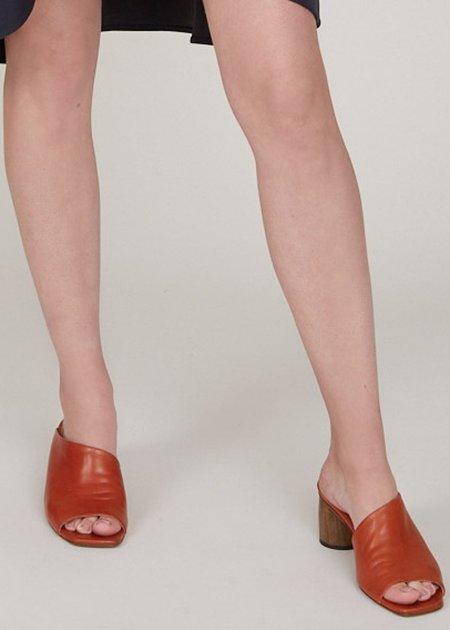 Miista Albarca leather sandals - brick