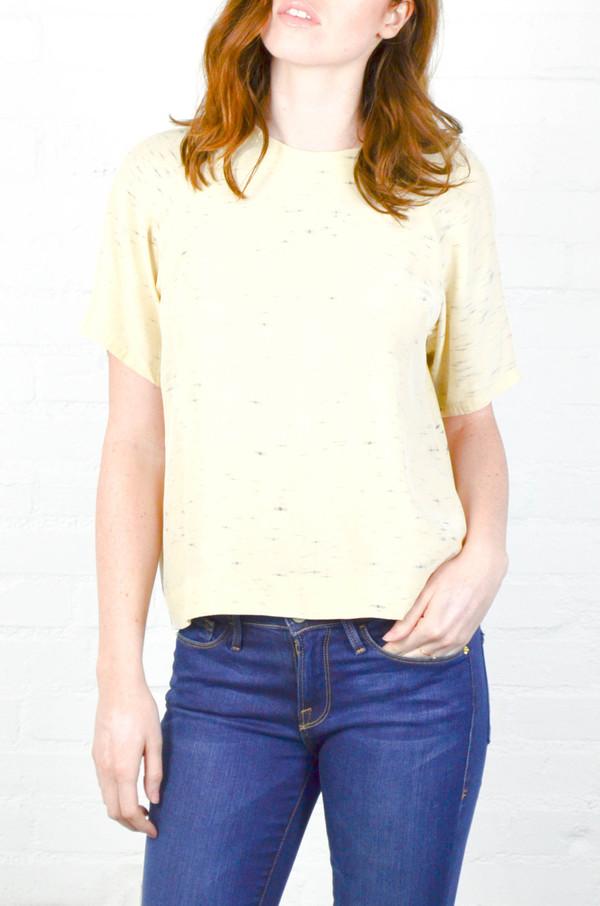 Kamperett Refraction Print Stratus Silk Raglan Shirt
