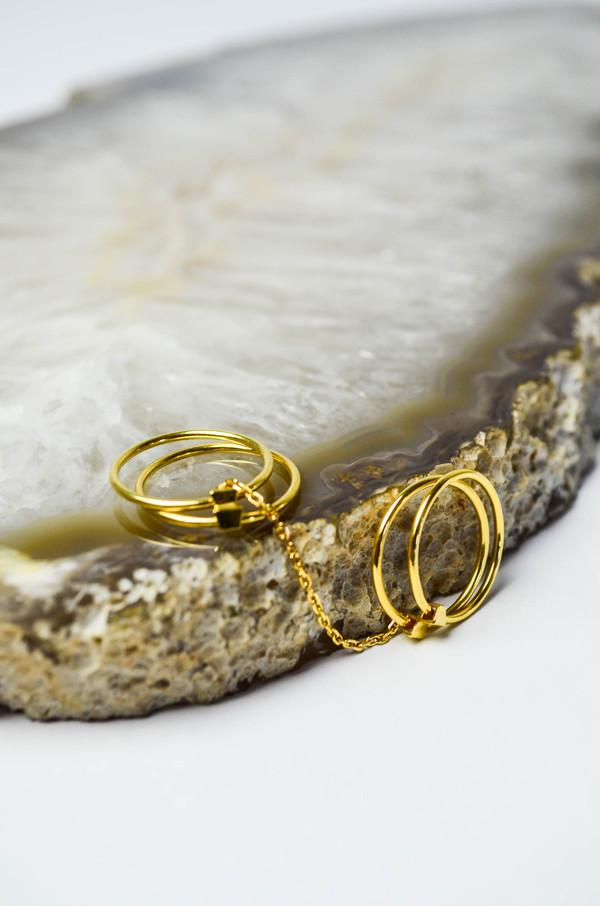 Maria Black Gold Quadruple Ring