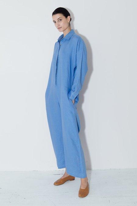 Datura Empyrean Linen Ren Jumpsuit - Blue