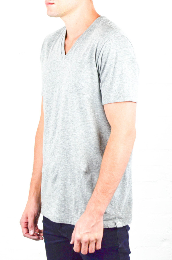 Men's Rag and Bone Grey Heather V-Neck