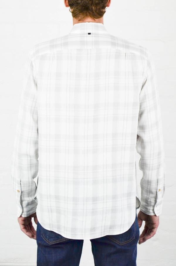 Men's Rag and Bone White and Grey Beach Shirt