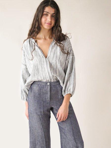 Erica Tanov patricia blouse - pebble sketch stripe