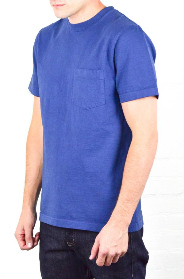 Men's Welcome Stranger Marine Blue 8 oz Bison Pocket Tee
