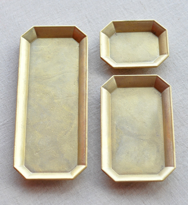 Futagami Large Brass Stationary Tray