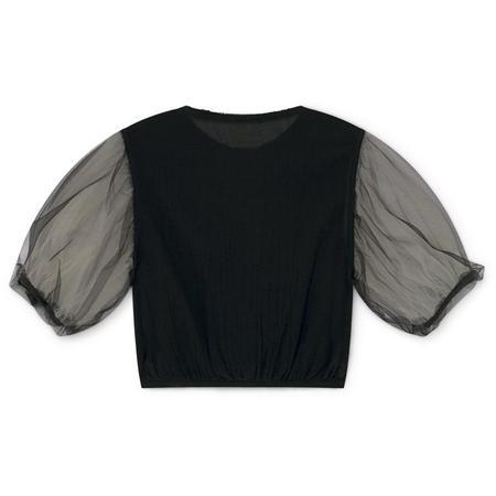 Kids little creative factory muslin fairy blouse - black
