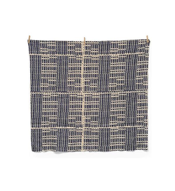 Jenny Pennywood Indigo Triangle Throw Blanket