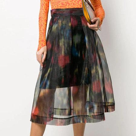 Baum und Pferdgarten Sashenka Skirt - Black Floral Blur
