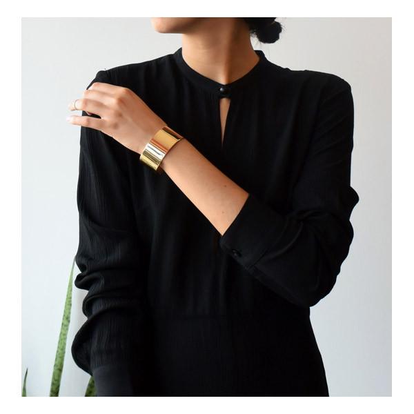 Kristen Elspeth Gold Cuff Bracelet