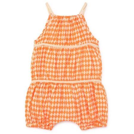KIDS little creative factory baby tiny diamond jumpsuit - neon