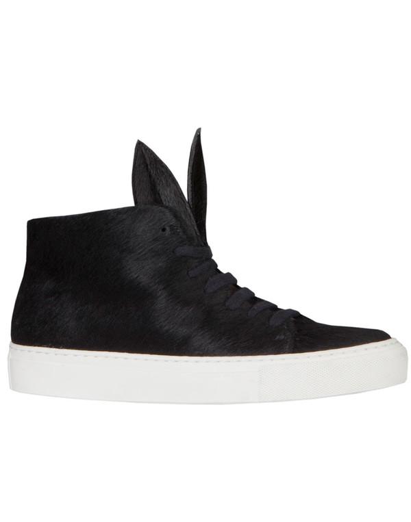 Minna Parikka - Bunny Sneakers Black Ponyskin
