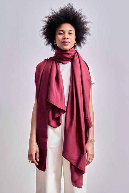 I DYE FOR U Wrap scarf - Deep Madder