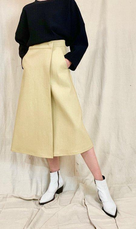 Anderst Denim Wrap Skirt - sand