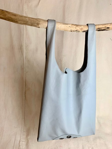 Anderst Leather Tote - blue
