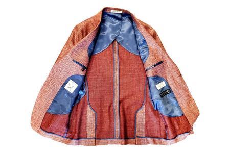 Strong Suit Vantage Texture Guabelle Wool Linen Blazer - Brick