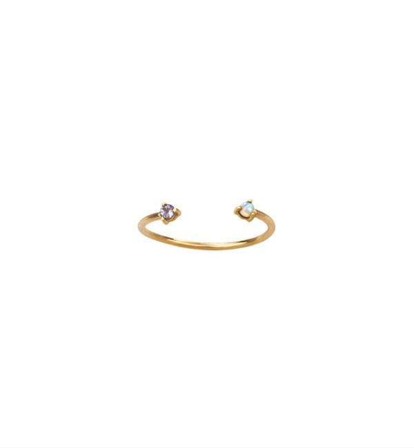 WWAKE Opal & Tanzanite Two Step Ring