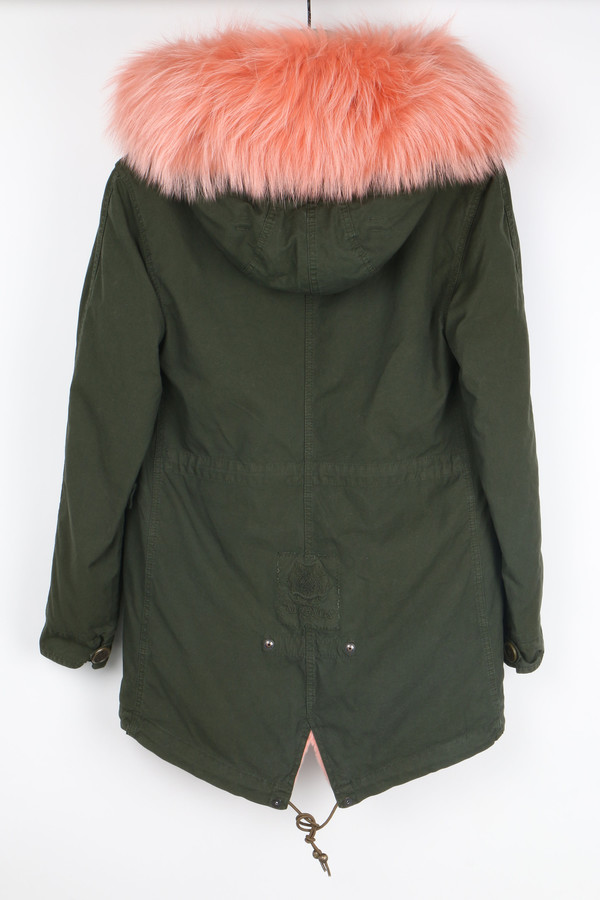 Mr & Mrs Italy Canvas Fur-Trimmed Parka