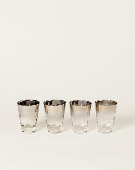 Vintage Four Tall Mid Century Modern Shot Glass