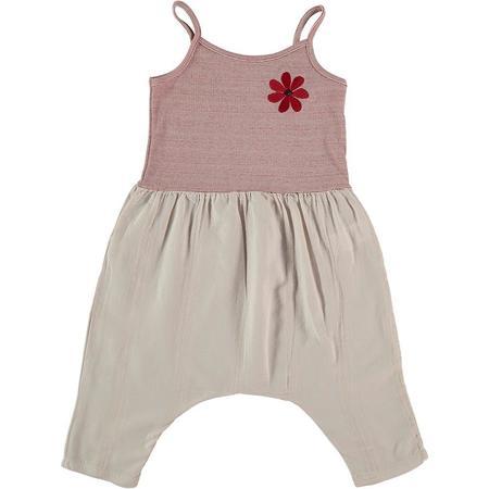 kids picnik flower jumpsuit - pink
