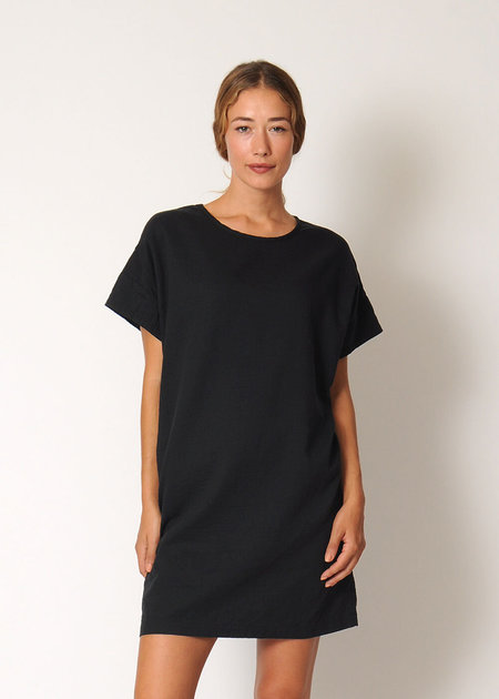 Conifer Mini Pullover Dress - black
