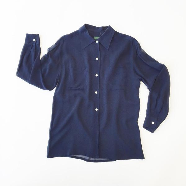Navy Sheer Shirt
